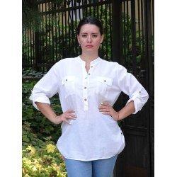 Бяла спортна риза