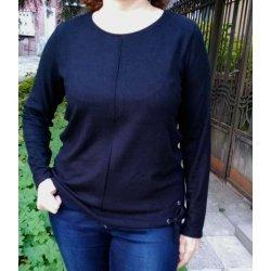 Черна блуза големи размери