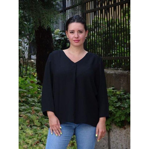 Черна дамска блузка