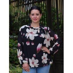 Официална блуза жоржет-шифон