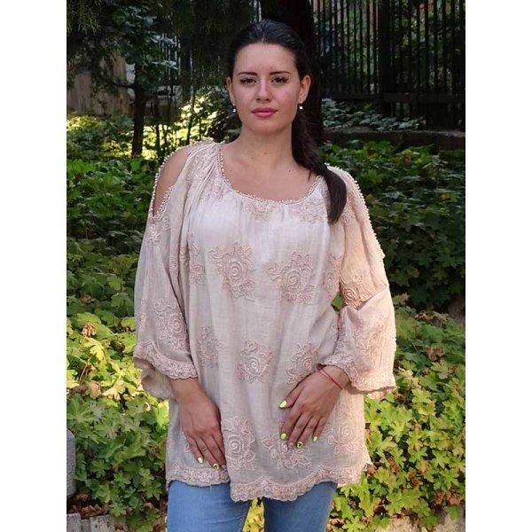 Памучна блуза-туника