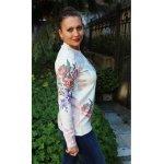 Блуза дълъг ръкав рози