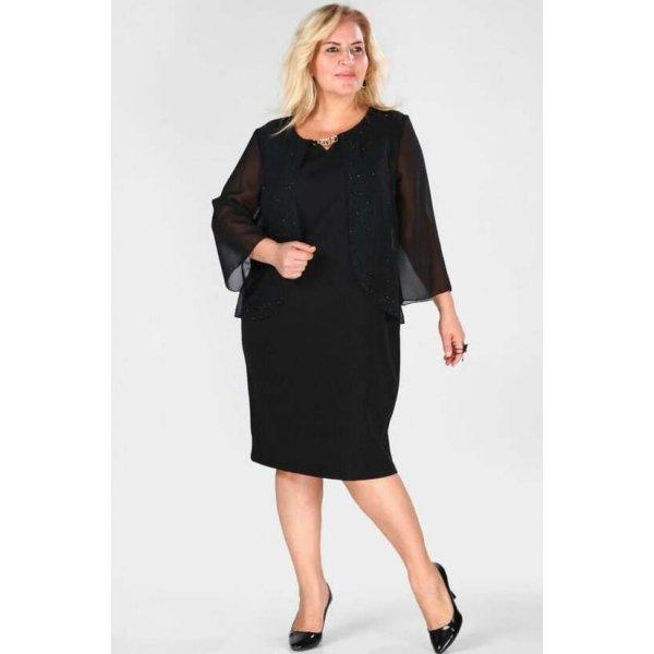 Официална черна рокля Галена