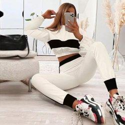 Бял Комплект с панталон MS3162