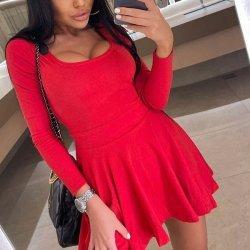 Червена Рокля MS3257