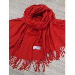 Червен кашмирен шал