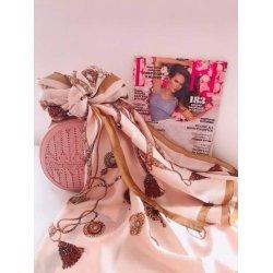 Копринен шал с ювелирна орнаментика