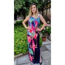 Дълга цветна рокля