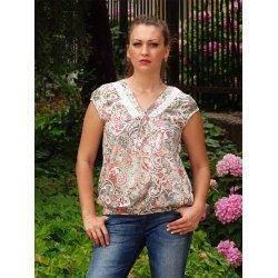 Блузка в пастелна разцветка