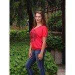 Червена блузка с щампа