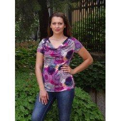 Лятна блузка с гръцко деколте