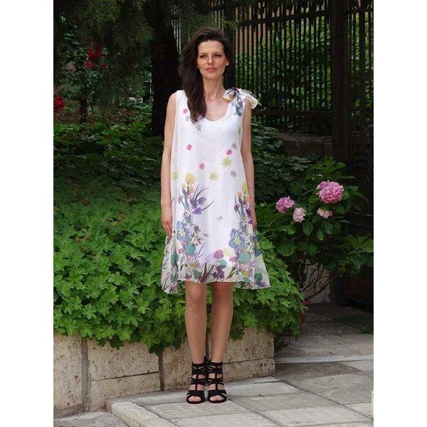 Бяла рокля от шифон