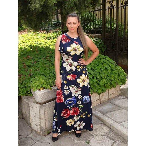 Дълга рокля цветя