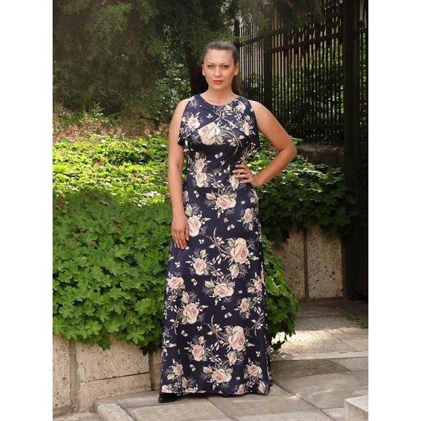 Дълга рокля с цветя
