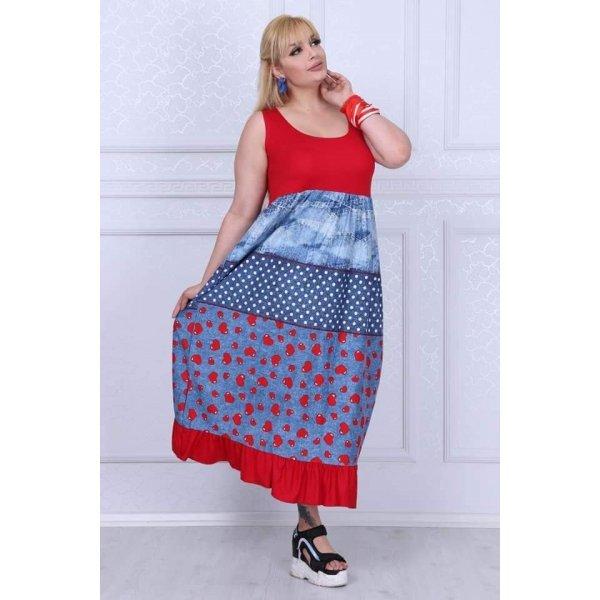 Лятна рокля голям размер