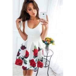 Лятна рокля рози