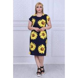 Памучна рокля на цветя