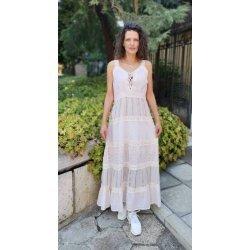 Дълга памучна рокля бохо