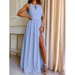 Дълга светлосиня рокля