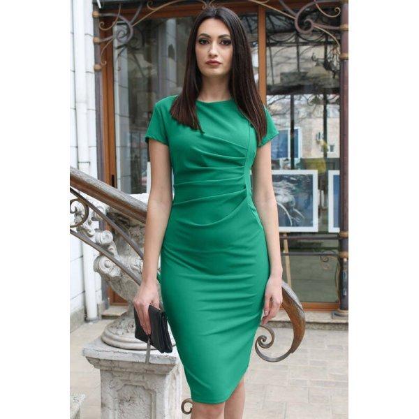 Елегантна зелена рокля макси
