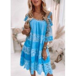 Лятна рокля бохо синя