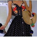 Лятна рокля на точки с презрамки