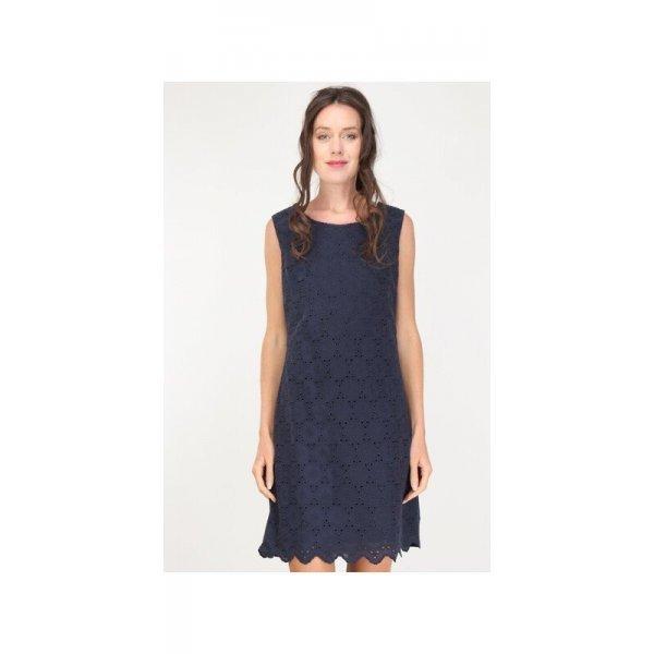 Тъмносиня памучна рокля