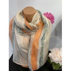 Летен шал в оранжевата гама