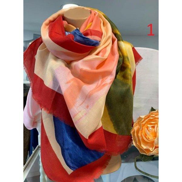 Памучни многоцветни шалове