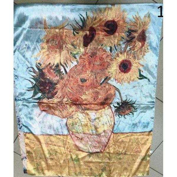 Сатенен копринен шал