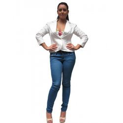 Дамско бяло сако