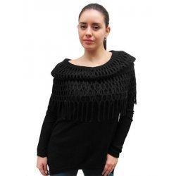 Блуза плетиво с яка