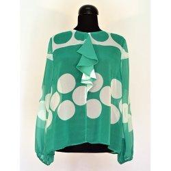 Шифонена блуза със жабо