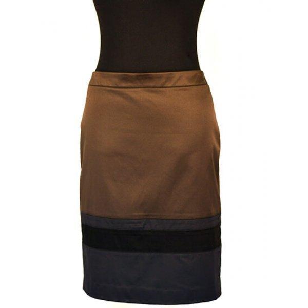 Кафява сатенена пола