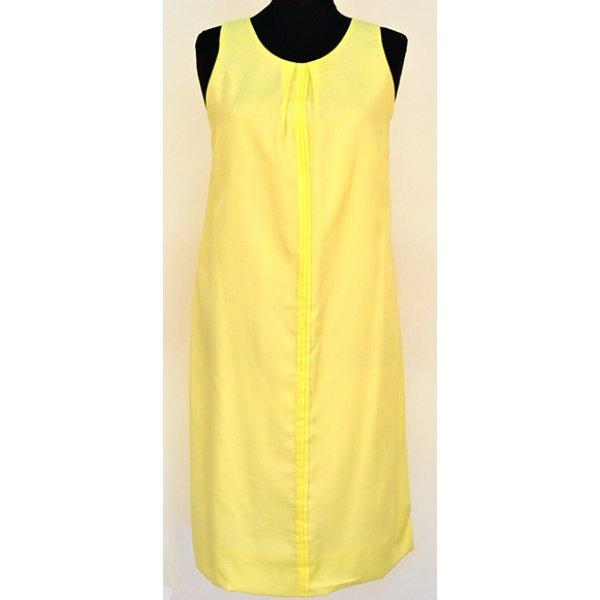 Памучна жълта рокля