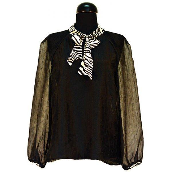 Блуза шифон с дълъг ръкав
