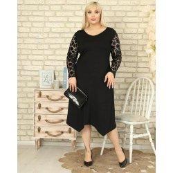 Макси рокля с оригинален ръкав