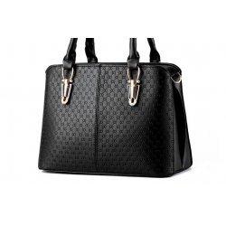 Черна елегантна чанта Flora Black