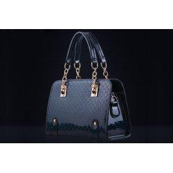Дамска лачена чанта Nia Blue