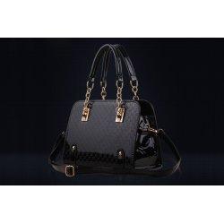 Лачена чанта Nia Black