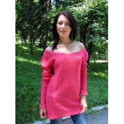 Плетен пуловер за лятото