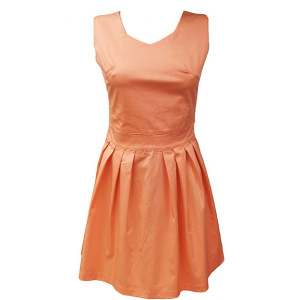 Дамска разкроена рокля с басти