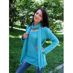 Блуза плетена с шал