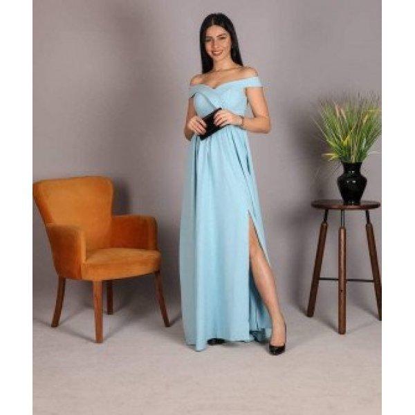 Светлосиня официална рокля