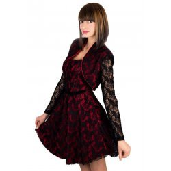 рокля с болеро дантела