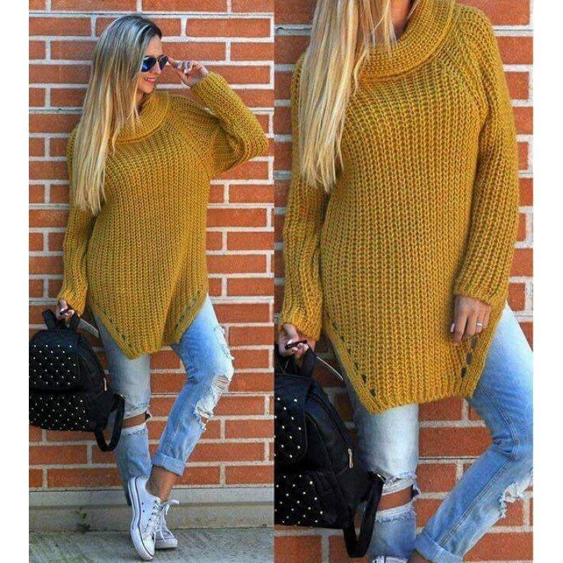 c35e9780f50 изчерпан Плетен пуловер зимен