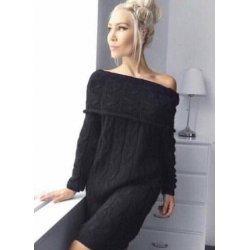 Черна плетена рокля