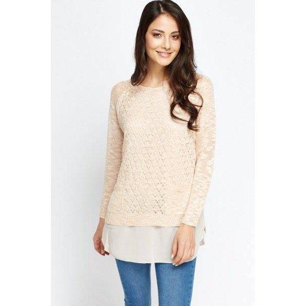 Плетена блуза-туника