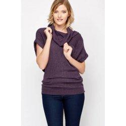 Плетена блуза с къс ръкав