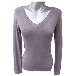 Сива плетена блуза